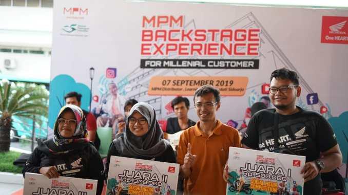 Konsumen Milenial Honda diajak jalan-jalan interaktif di MPM Part Centre Sedati Sidoarjo