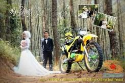 Kumpulan foto romantisme anak motor trail maupun prewedding biker (13)