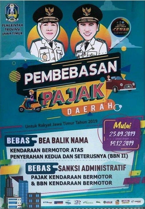 jadwal pemutihan pajak motor di Jawa Timur tahun 2019