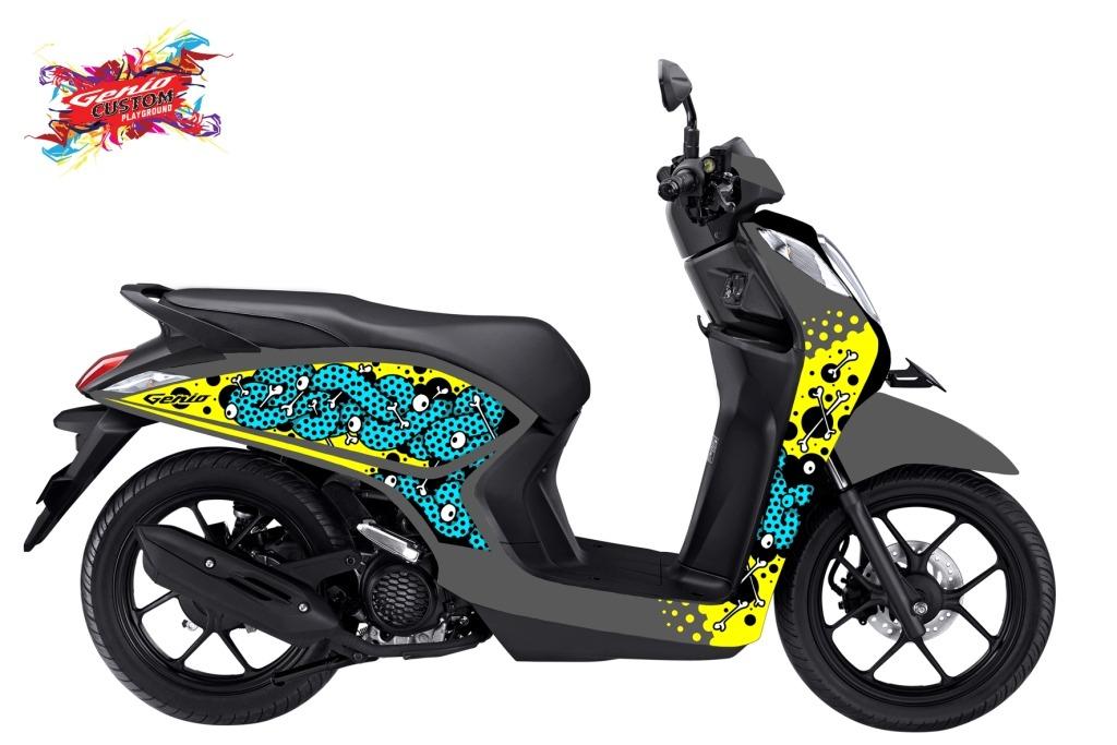Inspirasi Modifikasi Honda Genio versi pemenang Genio Artwork Competition