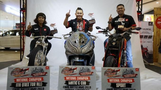 3 Modifikator terbaik Honda Modif Contest (HMC) tahun 2019