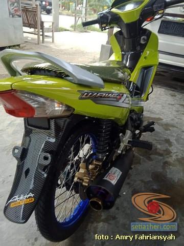 Modifikasi Honda Supra X 125 warna cendol dawet atau ijo stabilo hijau daun