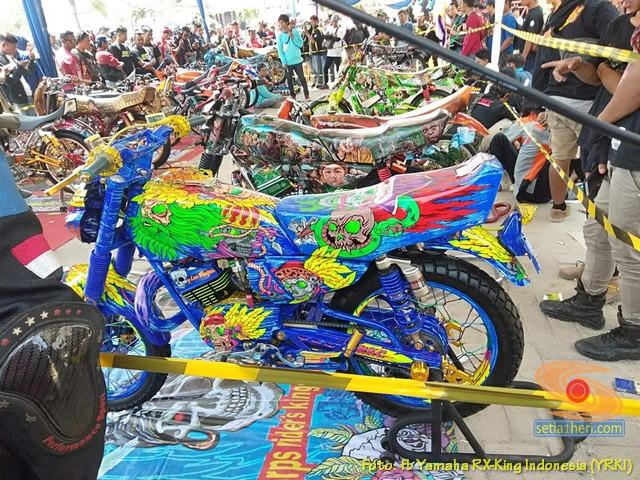 Ragam modifikasi dan paint brush Yamaha RX King, monggo diintips brosis