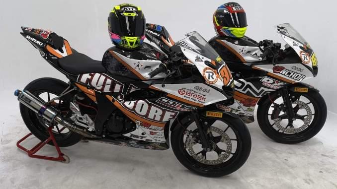 modifikasi suzuki GSX R150 khas pembalap