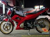 Modifikasi Suzuki Satria Fu warna merah brosis (2)