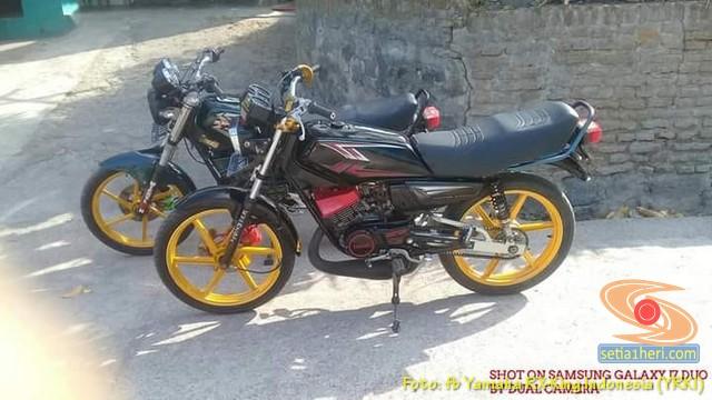 Modifikasi velg palang atau bintang pada Yamaha RX King (31)