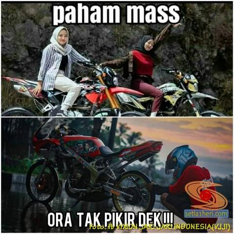 Meme biker gambar paham mas ? motor trail idaman wanita jaman now