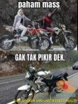 Meme biker gambar paham mas motor trail idaman wanita jaman now (7)