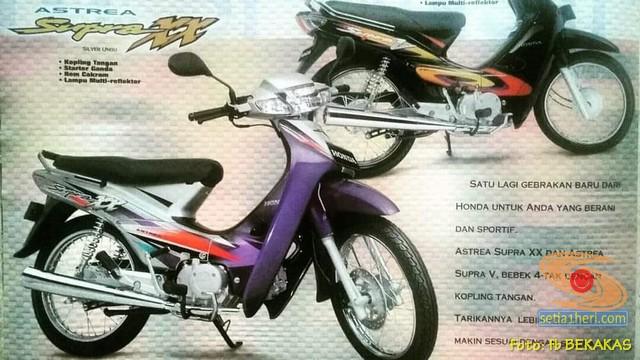 Mengenang motor lawas bebek jadul Honda Supra XX dan Supra V brosis