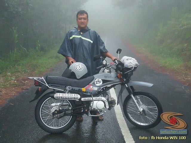 Foto- Foto modifikasi motor Honda Win jadi motor trail tahun 2020 (20)