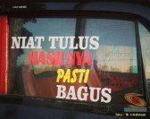 Kumpulan tulisan stiker bak truk dan kata kata mutiara untuk sopir (1)