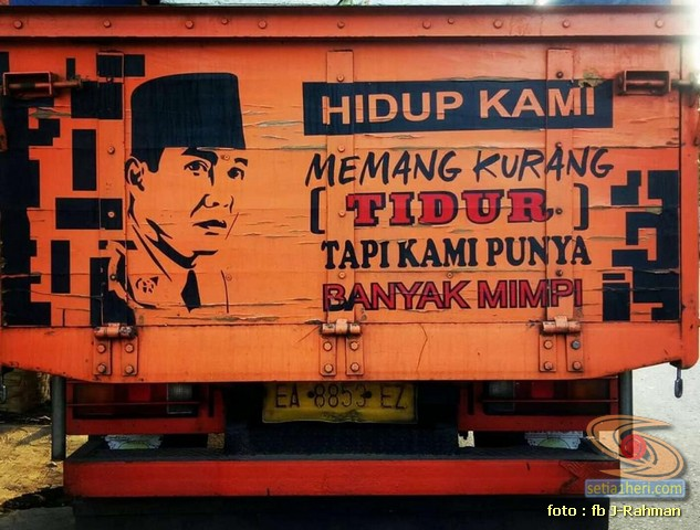 Kumpulan tulisan stiker bak truk dan kata kata mutiara untuk sopir (14)