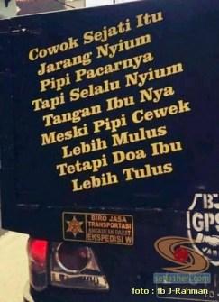 Kumpulan tulisan stiker bak truk dan kata kata mutiara untuk sopir (19)