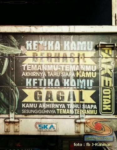 Kumpulan tulisan stiker bak truk dan kata kata mutiara untuk sopir (9)