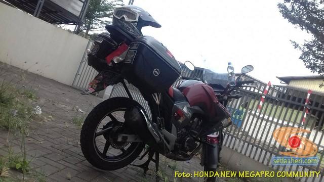 MegaSon, Modifikasi Honda New Megapro pakai tangki BBM punya Yamaha Byson (5)