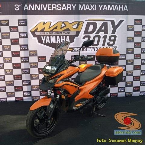 Modifikasi Yamaha Aerox 155 rasa BMW GS 1200 buat turing brosis..