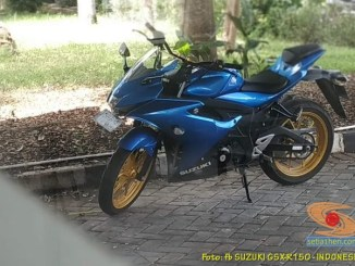 Anti pegal, ganti stang jepit Suzuki GSX R150 dengan stang baplang gans...