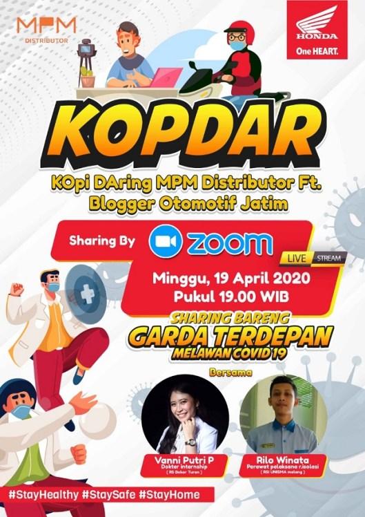 Kopdar Daring MPM bersama blogger Jawa Timur bincang Covid-19