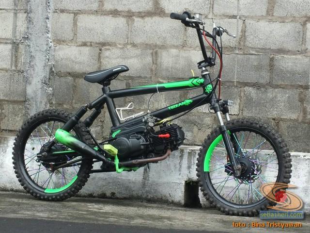 Bmx Moto Modifikasi Mini Trail Odong Odong Rangka Bmx Mesin Yamaha Crypton Setia1heri Com
