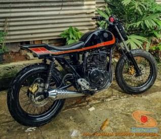 Kumpulan gambar modifikasi Yamaha Scorpio menjadi scrambler atau japstyle (5)