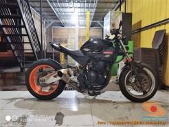 Kumpulan modifikasi Yamaha Scorpio menjadi scrambler atau japstyle (5)