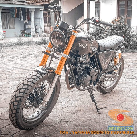 Kumpulan modifikasi Yamaha Scorpio menjadi scrambler atau japstyle (6)