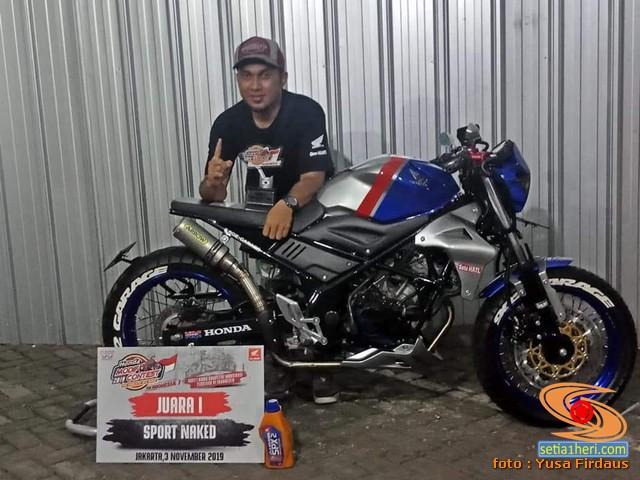 Modifikasi Honda CB150R Custom asal Jakarta bikin ngilerrr brosis.. (5)
