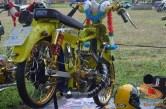 Modifikasi Yamaha RX King berubah jadi motor bebek retro klasik atau swap engine (13)