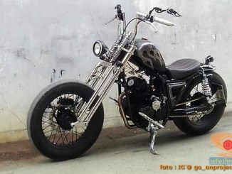 Modifikasi Yamaha Scorpio jadi Chopper asal Kota Tegal ini bikin ngilerrr brosis. (2)