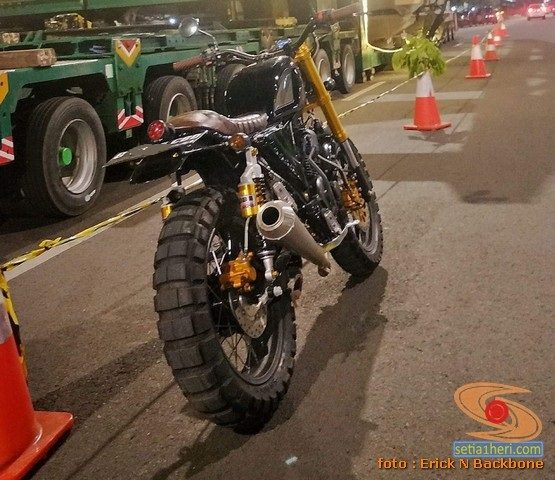Modifikasi Yamaha Scorpio versi Scrambler asal Jakarta (6)
