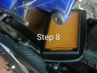 DIY Cara buka atau ganti filter udara di Yamaha R15 v2 (1)