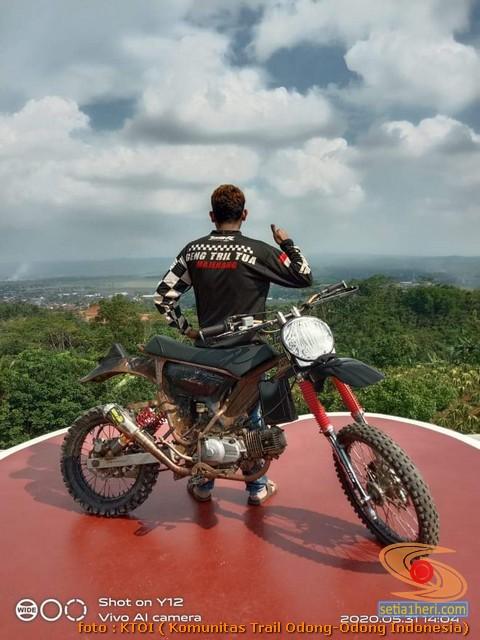 Honda C70 modif trail odong-odong alias bebek trail GTX