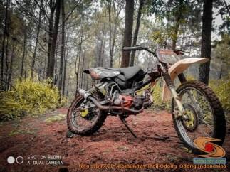 Modifikasi trail GTX bebek basis mesin Yamaha Vega tahun 2020 (23)