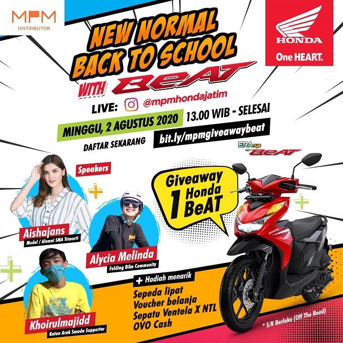 1000 anak muda Jawa Timur bakal Live Instagram di acara Back to School with BeAT
