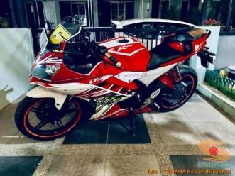 Kumpulan modif Yamaha R15 warna merah meronah brosis. (5)