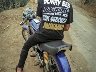 Ragam tulisan militan kaos biker Yamaha RX King