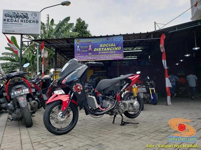 Modif mesin Yamaha Lexi bore up 200 cc buat balapan gans.. (1)