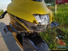 Modifikasi hedon Suzuki GSX-R 150 warna emas istimewa asal Bekasi (10)