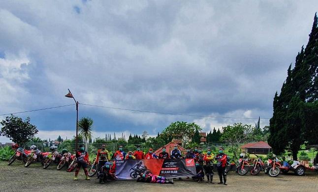 Honda CRF150L Jelajah Alam trabass Jolotundo-Trawas tahun 2020