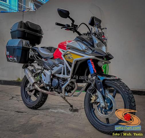 Modifikasi Honda CS1 gaya turing adventure bak BMW GS 1100 gans.. (2)