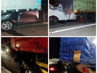 Tips bagi driver mencegah tabrak bokong truk di Tol (1)