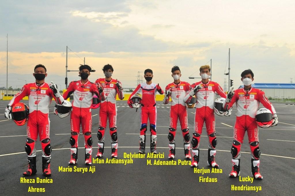 Daftar 12 pebalap Astra Honda Racing Team (AHRT) tahun 2021