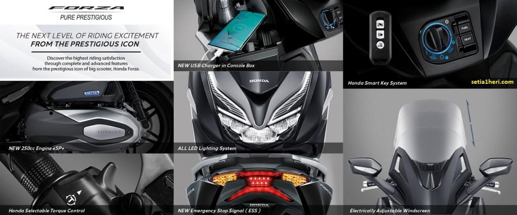 Fitur baru Honda Forza tahun 2021, desain baru dan lebih mewah prestisius brosis (2)