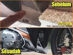 Restorasi Honda Supra X 125 PGM-Fi Tahun 2005 warna langka gans.. (2)
