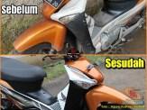 Restorasi Honda Supra X 125 PGM-Fi Tahun 2005 warna langka gans.. (5)