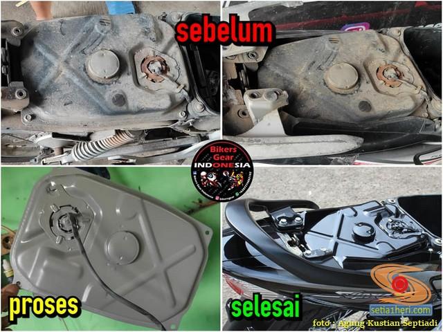 Restorasi Honda Supra X 125 tahun 2006, jadi kinclong dan menawan gans (1)