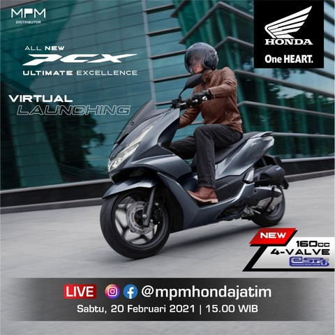 Yuuk ikut Virtual Launching All New Honda PCX 2021 di Jawa Timur, Ada Voucher Belanja Total Jutaan Rupiah