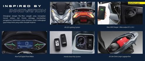 fitur baru honda pcx 160 cc tahun 2021