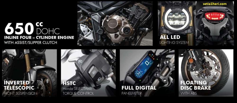 Fitur Neo Sport Café Honda CB650R tahun 2021