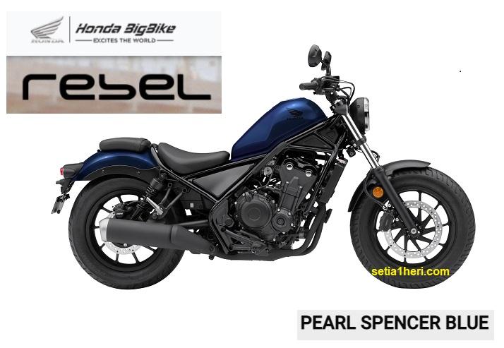Honda Rebel tahun 2021 warna Pearl Spencer Blue
